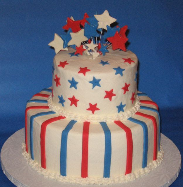 256 Best 4th Of July - Cakes Images On Pinterest