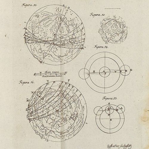vintage astronomy print - measuring eclipse