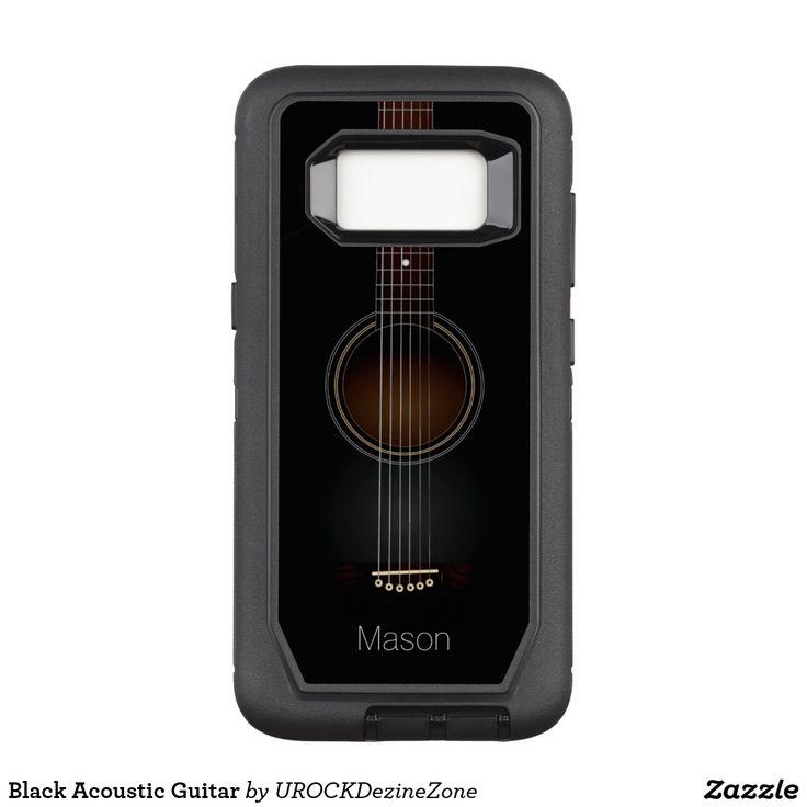 Black Acoustic Guitar #OtterBox Defender Samsung #Galaxy S8 Case #Guitar