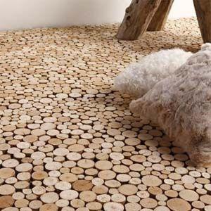End Grain Driftwood Flooring by Bleu Nature