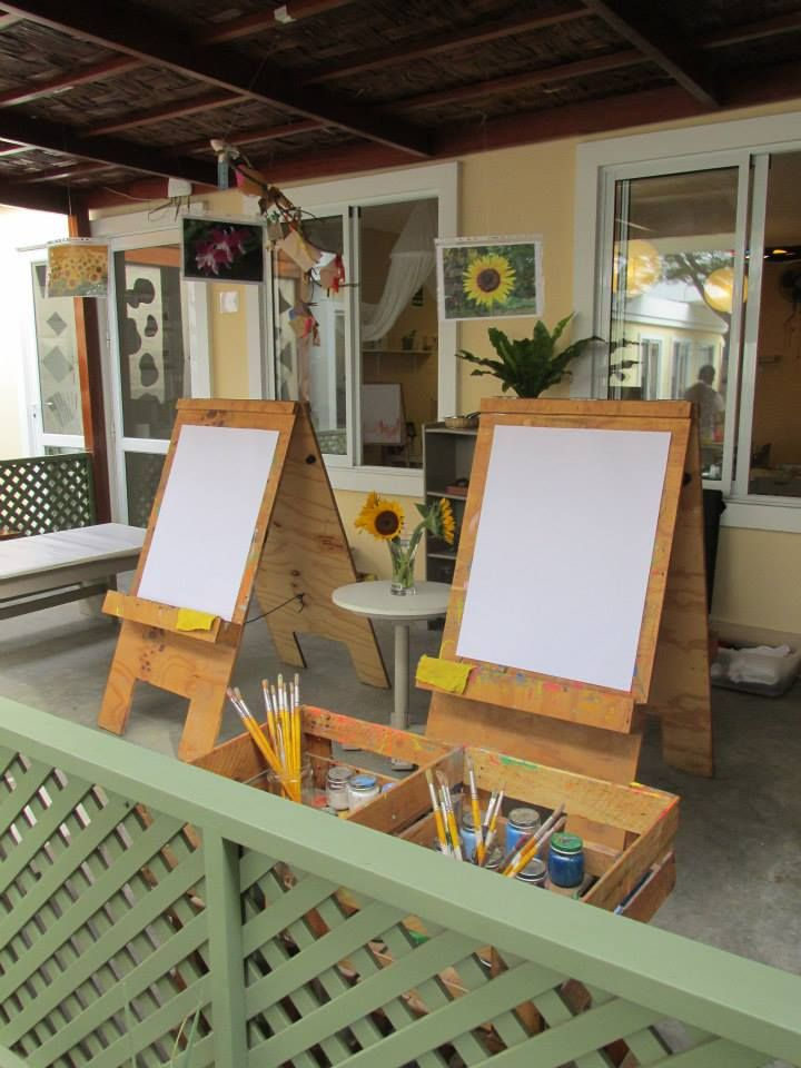 Charming Outdoor Painting Provocation   Put Flowers Or Other Natural Objects/  Photos/ Examples Of Art Work Outside With The Easels
