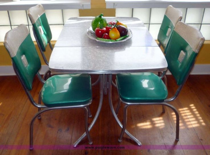 1960 39 s chrome dining table and chairs formica tables pinterest table and chairs chairs - Retro chrome kitchen table ...