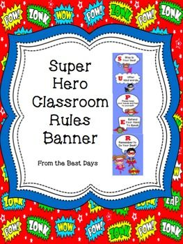 Thanks for downloading this product!  Please take a minute and provide feedback on it.  Also, click Follow Me to get updates on when I post new products.  Just print out the pictures, trim off the white edges and glue the pictures  together to create a classroom rules banner!