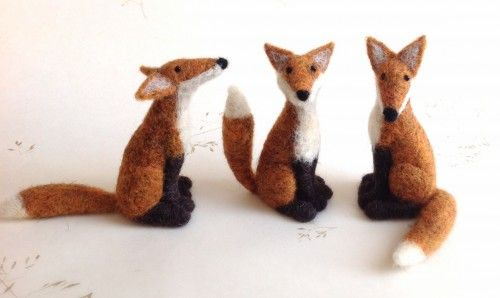 Foxes with character from needle-felter Jenny Barnett - she's got a workshop making these in March - https://www.facebook.com/events/1551705728449366