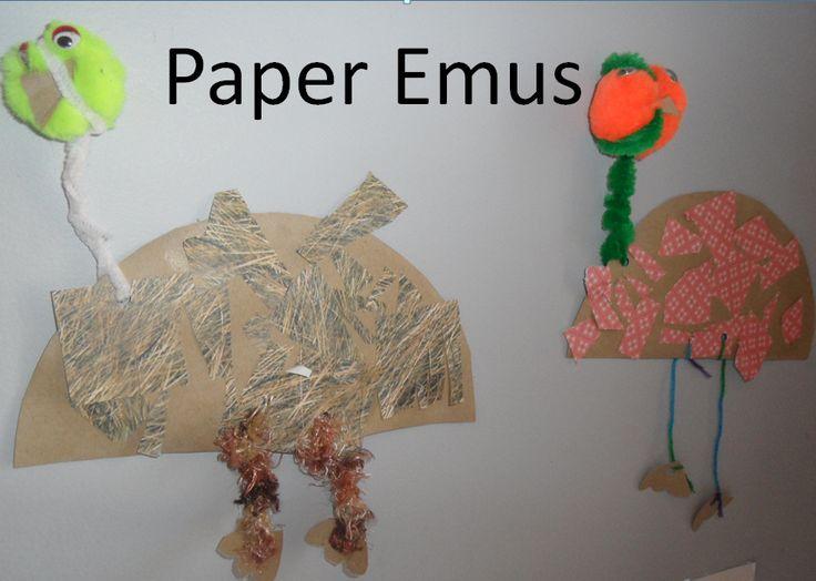 Paper Emus: Australia Day