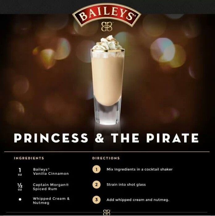 Baileys how to: Princess & The Pirate