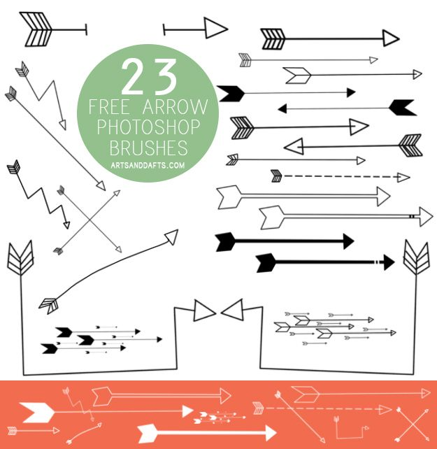 23 FREE ARROW PHOTOSHOP (ELEMENTS TOO) BRUSHES JUST FOR YOU!