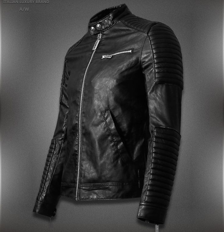Lima Hot Sale Mens Leather Jackets And Coats Jaqueta De Couro Masculina Famous Brand Men Designer Leather Ribbed Biker Jacket Pinterest Famous Brands
