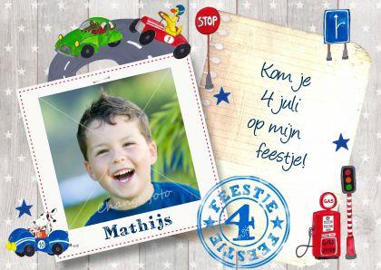 Uitnodiging, ontwerp door Cartita Design. www.kaartje2go.nl
