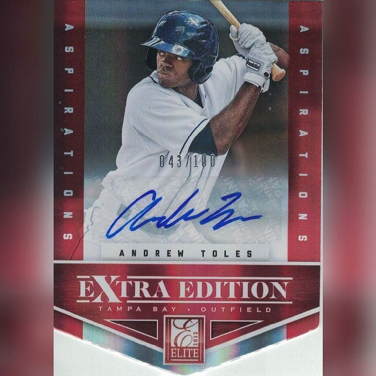 Andrew Toles 2012 Panini Elite Extra Edition auto arrived today. He had a lead off home run in today's Dodgers game. #dodgers #baseballcards #baseball @andrew_toles