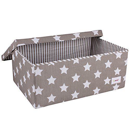 Minene Large Storage Box with Stars (Grey/ White): Amazon.co.uk: Baby
