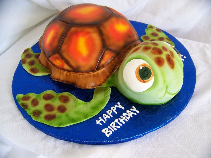 Sea Turtle - Seeing double here!!!! Sea turtle cake order for twins!
