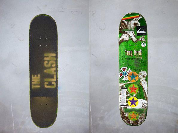 the clash. Mick Jones and Paul Simonon of the Clash/Tony Hawk collaboration skateboard.
