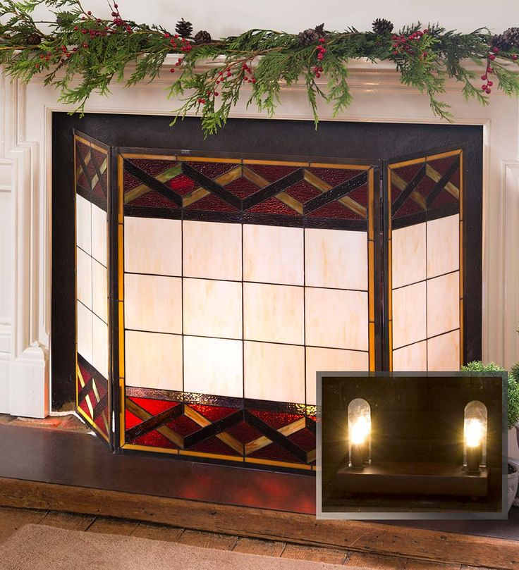 17 Best Ideas About Glass Fireplace Screen On Pinterest Stained Glass Fireplace Screen