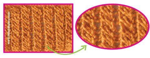 Cómo tejer el punto rejas caladas en dos agujas o palitos
