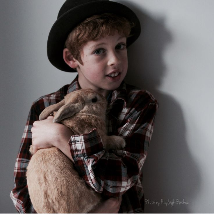 The boy and his bunny rabbit by Hayleigh Bashaw