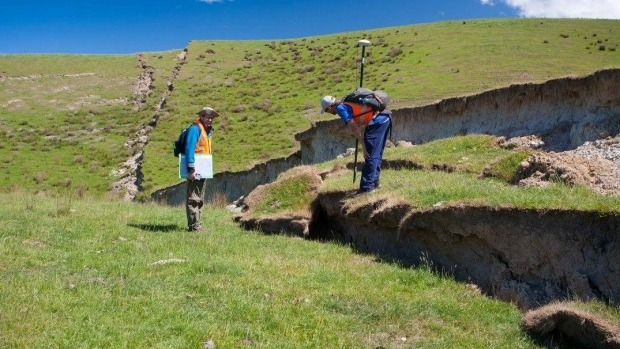 Scientists from around the world are researching how the earthquake impacted the land.