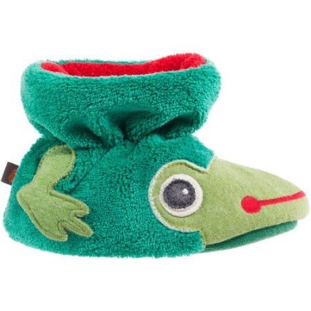 Acorn Kids Toddler Easy Critter Frog Bootie, Boy's, Size: Large, Green