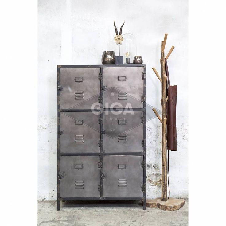 Locker New Vintage 6-deurs Metal