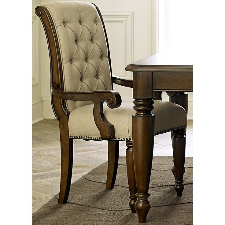 Cotswold Old World Cherry Upholstered Arm Chair