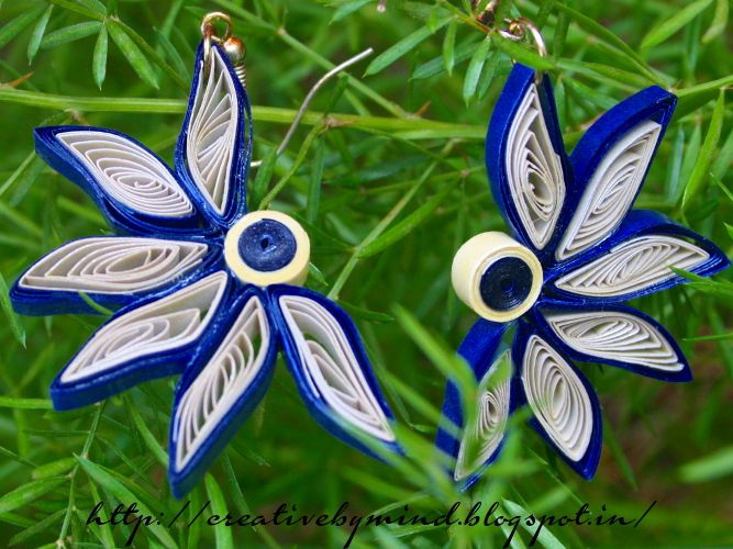 Handmade Paper Quilled Earring Protective Varnish Coating Is Lied To Make The Product Water Resistant And Durable For More Information Visit