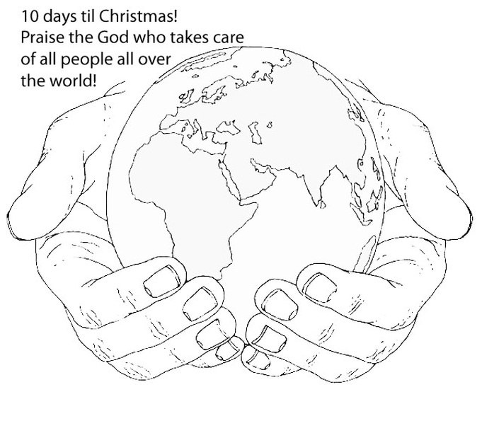 World In His Hands Coloring Page