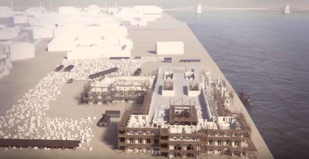 animáció Parlament országház építés