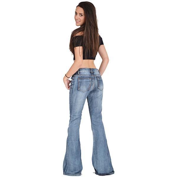 60s Faded Denim Hip Hugger Bell Bottoms Jeans In 2020 Bell Bottoms Bell Bottom Jeans Faded Denim