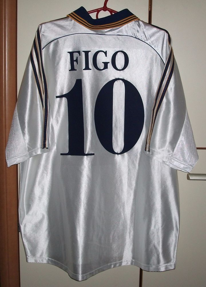 ad9f8322b7d REAL MADRID SPAIN 1998 1999 2000 HOME FOOTBALL SHIRT JERSEY ADIDAS FIGO  10  (eBay Link)