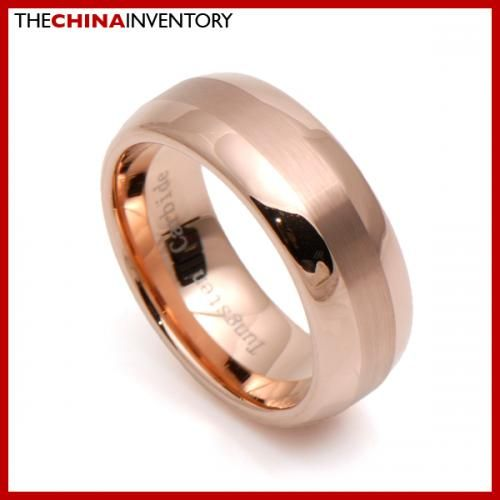 8MM SIZE 8 TUNGSTEN CARBIDE CHAMPAGNE GOLD RING R3012A
