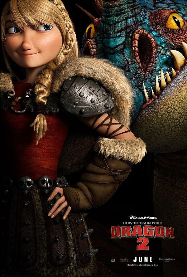 """Astrid é destaque no cartaz da animação """"Como Treinar o Seu Dragão 2″ http://cinemabh.com/imagens/astrid-e-destaque-no-cartaz-da-animacao-como-treinar-o-seu-dragao-2"""