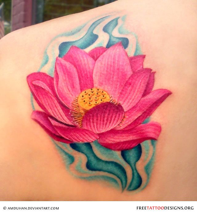 best  pink lotus tattoo ideas on   red lotus tattoo, Beautiful flower