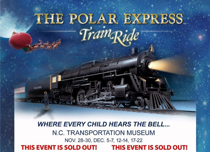 The Polar Express train ride and show at the NC Transportation Museum in Spencer, NC.