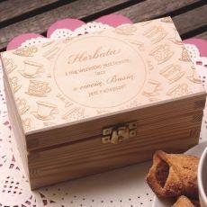 Herbatka w personalizowanej skrzynce FILIŻANKI idealny na urodziny