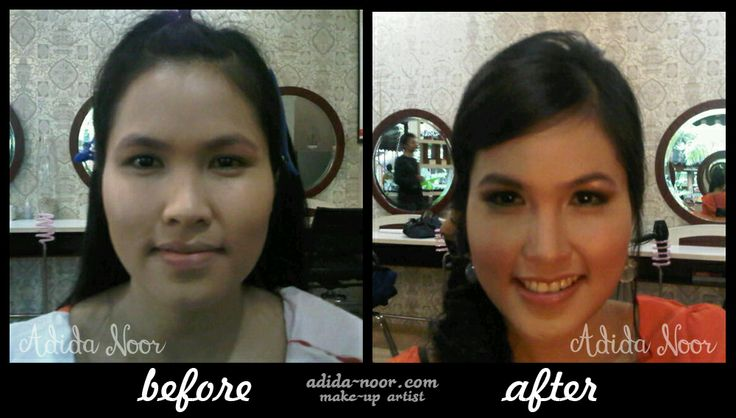 foto before-after model tabloid Genie | Make-up by Adida Noor (Indonesian Make-Up Artist) please visit : adida-noor.com