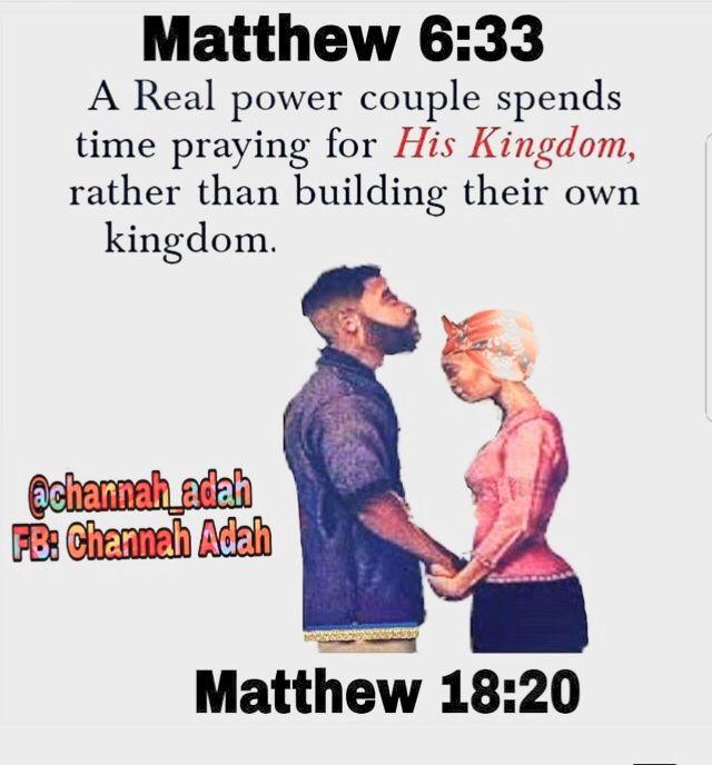 Pin By Vee Israel On Israelite Marriage Matthew 18 20 Matthew 6 33 Power Couple