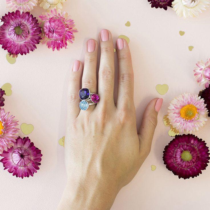 Montpelier MKD Summer 2018 Stacker Ring Set #bling #MarisaKateDesigns #Swarovski #crystal #jewel #sterlingsilver