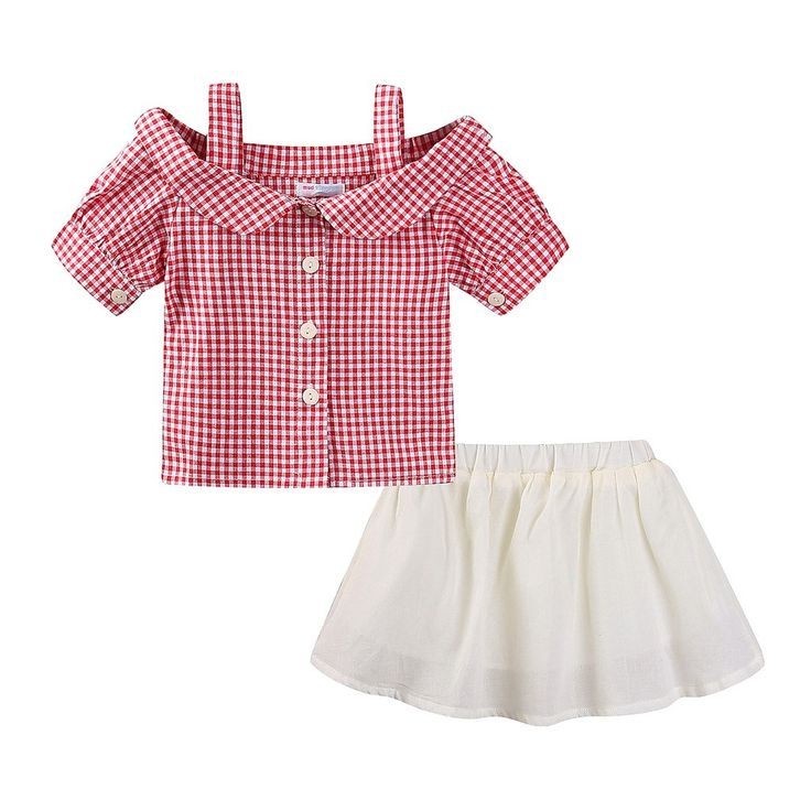 """Mud Kingdom Girls Plaid Braces Shirts and Solid Color Skirts Outfits 8-9T. Classic. Light Fabric. For Summer. Adorable Design, Comfortable Fabric and Much More Beautiful Than Pictures, Kids Will Like It As Gift. Please Read """"Size Specification"""" In """"Product Description"""" To Make Sure The Size You Choose Fits As Expected."""