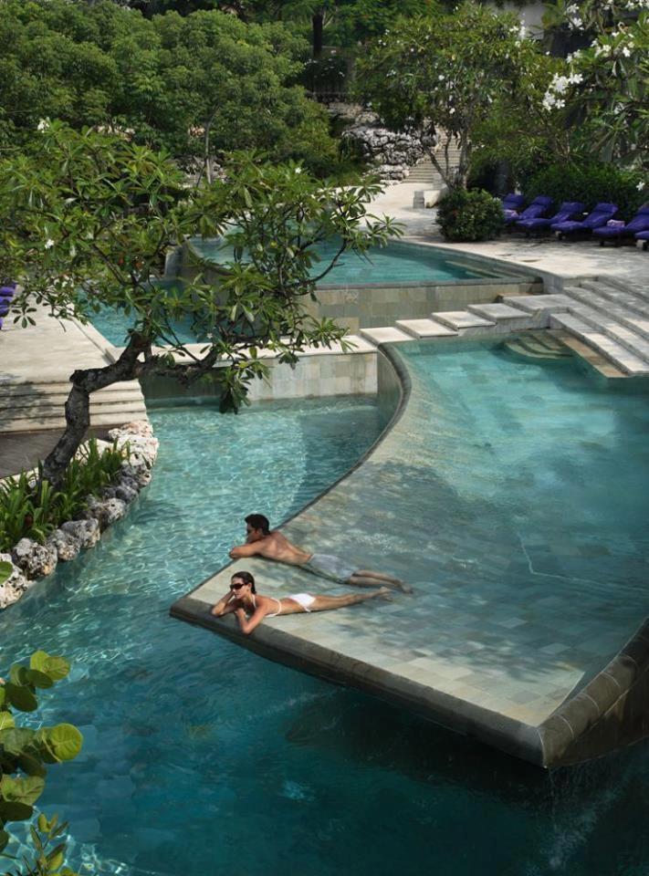 River Pool at AYANA resort and Spa, Bali.