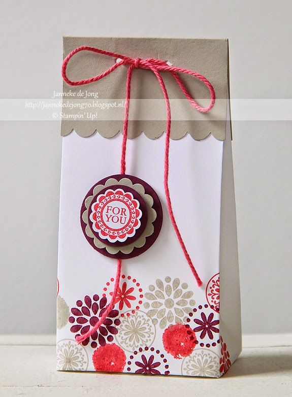 Stampin' Up! Demonstratrice Janneke : Workshop Cadeau Verpakkingen | Stampin' Up! Gift bag