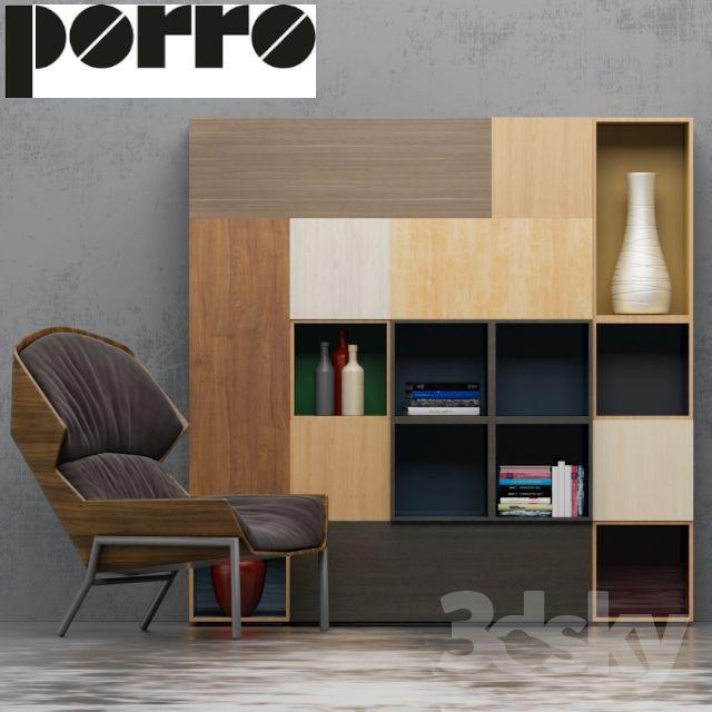 Wardrobe, Armchair (Porro) (Clarissa Hood)