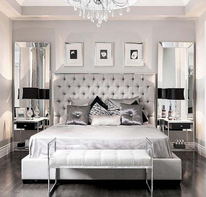 37 Beautiful Silver Bedroom Ideas Luxury Bedroom Decor Glamourous Bedroom Luxurious Bedrooms Luxury silver bedroom ideas