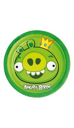 Angry Birds™ - Lot de 8 Assiettes Green Bird
