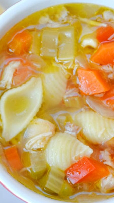 The Best Hearty Chicken Soup Recipe ~ A Swiss Chalet Copycat Recipe... It's easy to make, and it's super healthy.