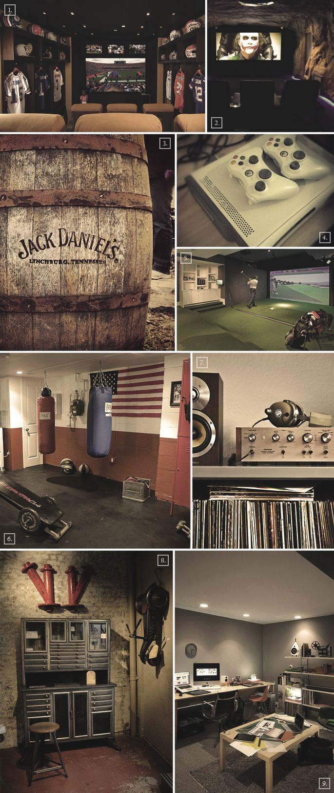the cave basement ideas for men renovierung m nner zimmer und garage ideen. Black Bedroom Furniture Sets. Home Design Ideas
