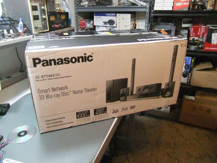 Panasonic SC-BTT465 Home Theater System Blu Ray 3D Network  #Panasonic