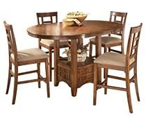 Cross Island Counter Height Extension Dining Table
