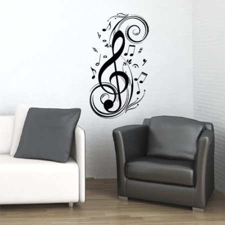 Clef Music Note Wall Decal Sticker Art Studio