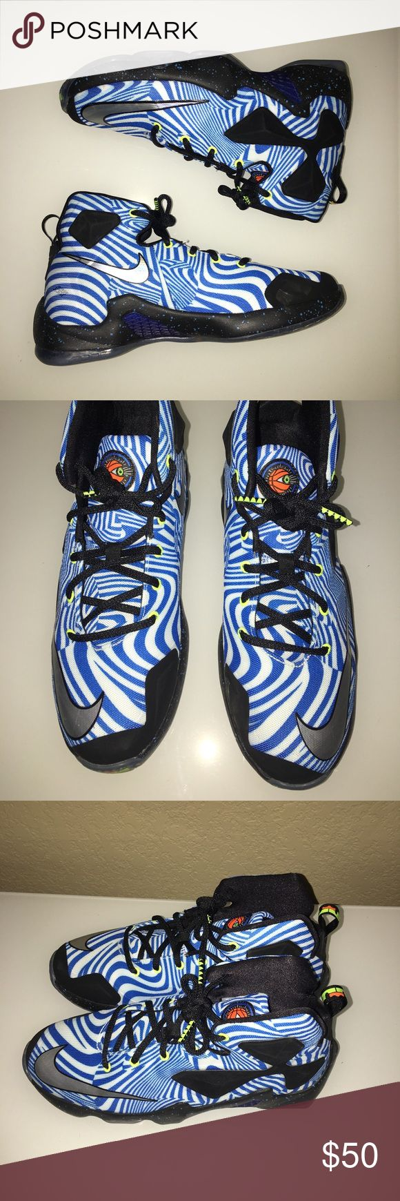⭐️PRICE ⬇️⭐️ LeBron James XIII 13 Nike Sneakers 7Y Like New. My son wore them 1 time and then said they were too small for him. Smoke free home. Nike Shoes Sneakers