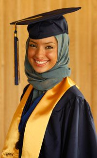 Noor Tagouri was selected as a commencement speaker when she was 18. She hopes to be a journalist in the future.